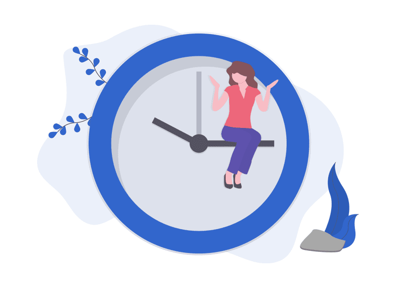 woman considers time constraints to create a website - diy website cons